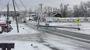 Power lines down in Monterrey Tennessee