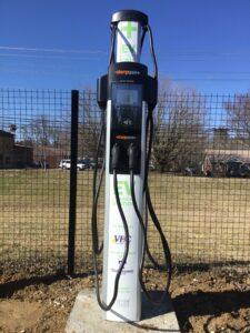 Dual Point Electric Vehicle Charger installed in Brydstown and Jamestown TN.